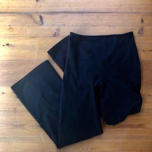SPANX Pants Black Leggings Yoga Large L Wide Leg